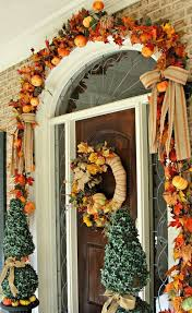 flowy thanksgiving front door decorations in creative home