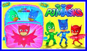 pj masks backpack surprises toys disney junior videos
