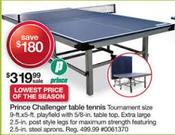 prince challenger table tennis table black friday deal prince challenger table tennis table w bonus