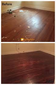 Stain Wood Floors Without Sanding by Hardwood Floors Are Sanded And Stained The Last Big Project Draws