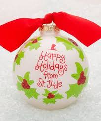 this happy holidays ornament inspired by st jude patient