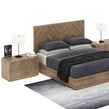 wooden base bed bed with wooden base restoration hardware herringbone 3d model max obj