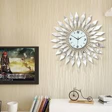 living room wall clock fashion modern iron wall clock large diamond luxury living room