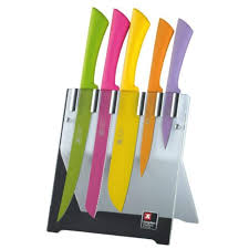coloured kitchen knives richardson sheffield colour 5 knife block set