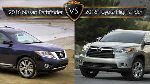 nissan highlander 2015 2016 toyota highlander vs nissan pathfinder by the numbers youtube