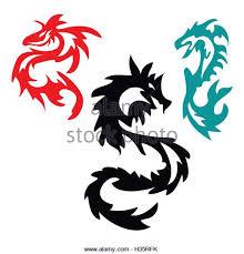 tribal dragon tattoo stock photos u0026 tribal dragon tattoo stock