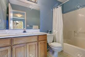 blue bathroom vanity cabinet white and blue bathroom features a