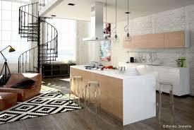deco salon cuisine ouverte la cuisine ouverte une bonne idée pour gagner de la place à