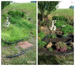 focal point styling transforming a water garden into a rock garden