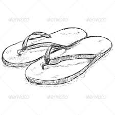 vector sketch slippers by nikiteev graphicriver