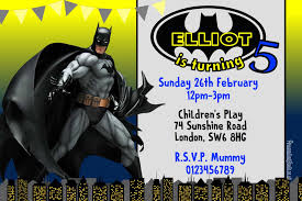 personalised halloween party invitations 10 personalised yellow batman birthday party invitations