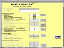 Estate Investment Spreadsheet Template by Investment Property Flow Analysis Spreadsheet Laobingkaisuo Com