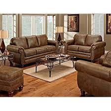 Used Sofa And Loveseat For Sale Amazon Com Roundhill Furniture San Marino 2 Tone Fabric Sofa