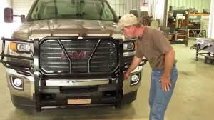 frontier grille guard 2015 17 gmc 2500 u0026 3500 installation youtube