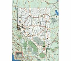 nevada road map editable royalty free map of nevada in vector graphic store
