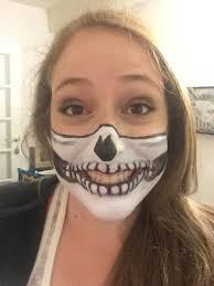 half skull mask halloween photos we tried a skull mask makeup halloween tutorial