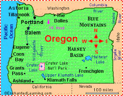map of oregon state oregon facts map and state symbols enchantedlearning