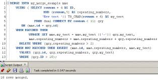 Create Table Oracle Sql How To Use Oracle Merge Statement