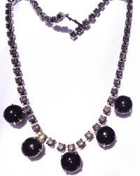 black rhinestone necklace images 49 black rhinestone necklace black rhinestone flower necklace jpg