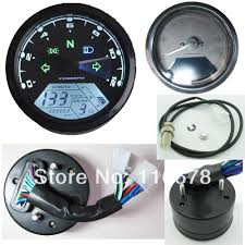 12000 rmp kmh mph universal lcd digital odometer speedometer