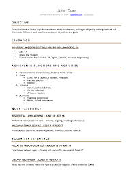 resume template high school high school resume resumes for high school students