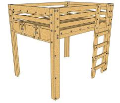 Free Loft Bed Plans Full Size by Best 25 Queen Loft Beds Ideas On Pinterest Loft Bed King