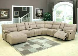 Recliners Sofa Leather Sectional Sleeper Sofa With Recliners Leather Sectional