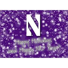 happy new year note cards northwestern wildcats happy holidays happy new year notecards