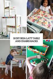 Diy Furniture Hacks 18 Diy Ikea Latt Table And Chairs Hacks Shelterness