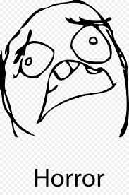 Meme Rage - rage comic internet meme face horror expression png download