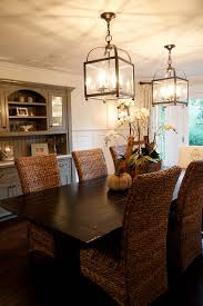 Pottery Barn Kitchen Hutch by Splashy Seagrass Chairs In Dining Room Contemporary With Seagrass