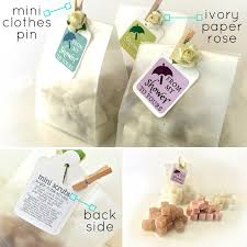 unique bridal shower favors bridal or baby shower favors mini sugar scrub cubes in gift bag