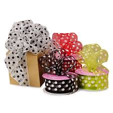 polka dot ribbon sheer polka dot ribbons