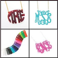 cheap monogram necklace acrylicmonogramnecklace jpg