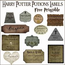 Harry Potter Potion Labels Templates print out potions labels harry potter diys popsugar smart living