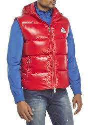pyrenex spoutnic shiny down vest in red for men lyst