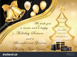 elegant corporate christmas new year greeting stock vector
