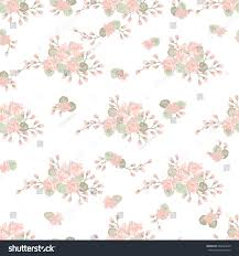 seamless pattern violet spring flowers floral stock vector
