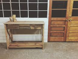reclaimed wood entry table residential furniture revival iron and wood