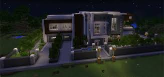 modern mansions modern mansion creation minecraft pe maps