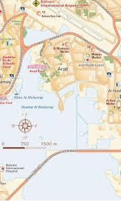 Map Of International Airports Official Map Al Muharraq Island And Bah Bahrain International
