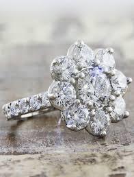 flower design rings images Katherine vintage inspired flower design diamond engagement ring jpg