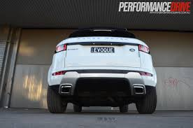 range rover evoque rear 2012 range rover evoque dynamic si4 coupe review performancedrive