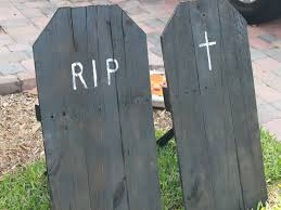 tombstones for how to make upcycled tombstones for your yard inhabitots