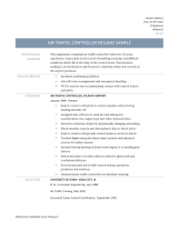 Pilot Resume Examples Air Traffic Controller Resume Template And Job Description
