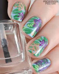 the lacquer ring beach tropical nail art procrastinating polishr