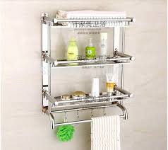 Bathroom Shelves With Towel Rack Bathroom Shelves Stainless Steel Wholesale And Retail Promotion