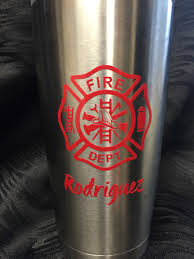 Awesome Wine Glasses Fire Department Decal For Yeti Cup Tumbler Coffee Mug Wine