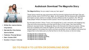 fixer upper magnolia book audiobook download streaming the magnolia story the magnolia story