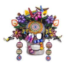 Day Of The Dead Masks Hand Crafted Frida Day Of The Dead Mask From Mexico Frida Kahlo
